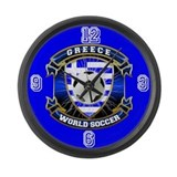 Greece Soccer Power Large Wall Clock