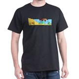 Platypus Make Poopie! Black T-Shirt