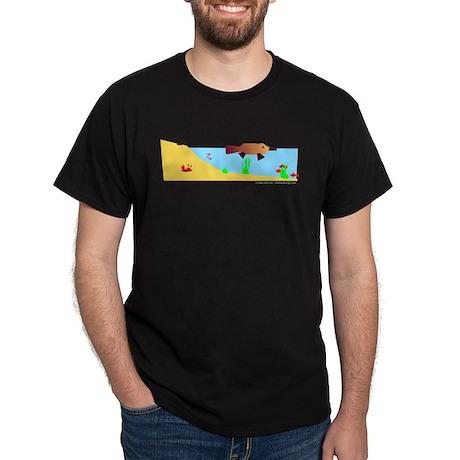 Platypus Make Poopie! Black T-Shirt