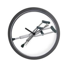 Metal Crutches Wall Clock