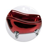 Red BathTub Ornament (Round)