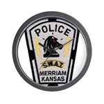 Merriam Police SWAT Wall Clock