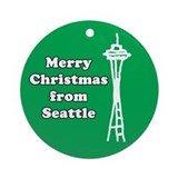 Merry Christmas from Seattle Ornament (Round)