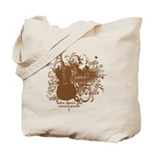 Music Speaks Cello Tote Bag