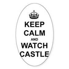 """Keep Calm And Watch Castle"" Decal"