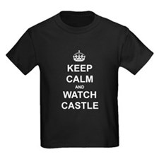 Keep Calm and Watch Castle Kids Dark T-Shirt