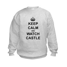Keep Calm and Watch Castle Kids Sweatshirt