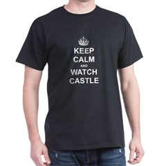 Keep Calm and Watch Castle Dark T-Shirt