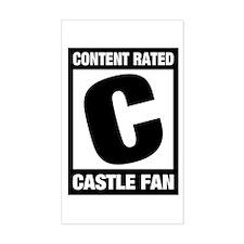 Rated Castle Fan Sticker (Rectangle)