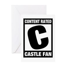 Rated Castle Fan Greeting Card