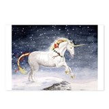 Christmas Unicorn Postcards (Package of