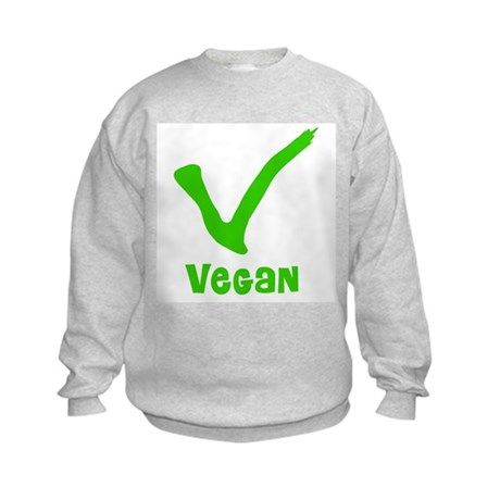 V is for Vegan Kids Sweatshirt
