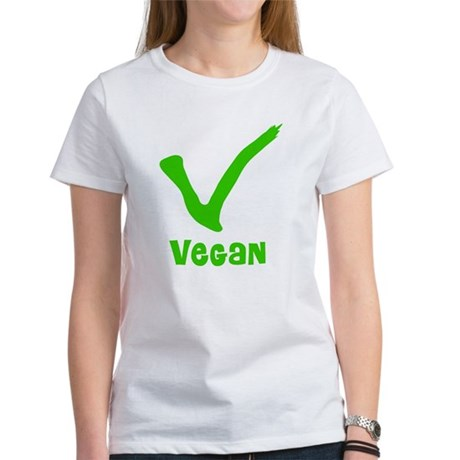 V is for Vegan Women's T-Shirt