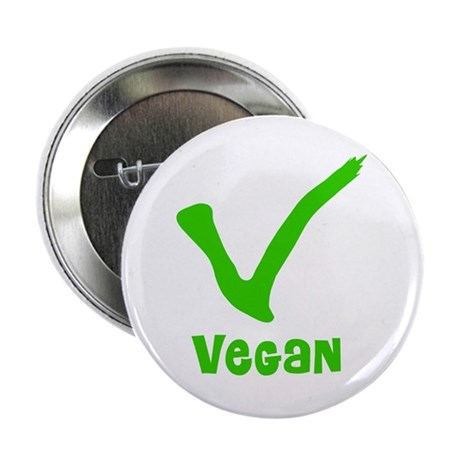 "V is for Vegan 2.25"" Button (100 pack)"