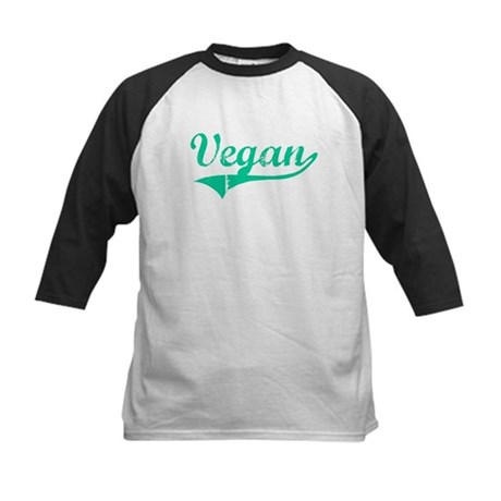 Team Vegan Kids Baseball Jersey