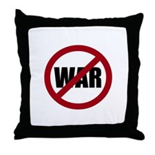 No War Throw Pillow