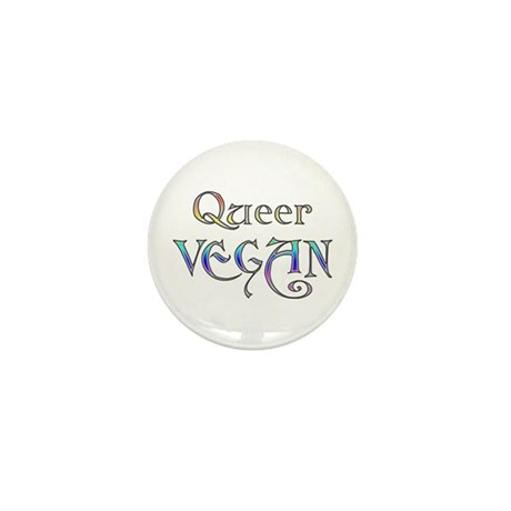 Queer Vegan Mini Button (100 pack)