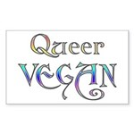 Queer Vegan Rectangle Sticker