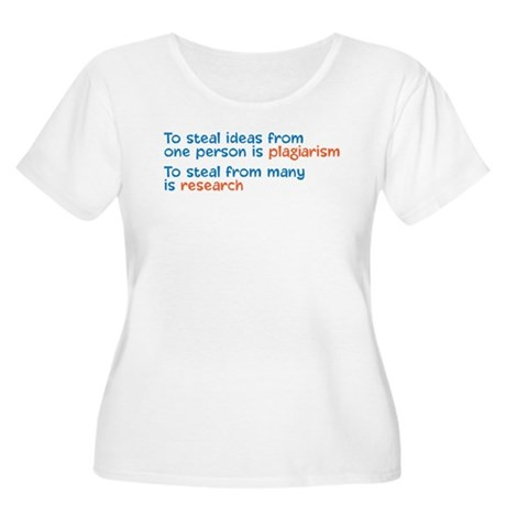 Plagiarism Women's Plus Size Scoop Neck T-Shirt