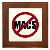 No Macs Framed Tile