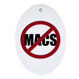 No Macs Ornament (Oval)