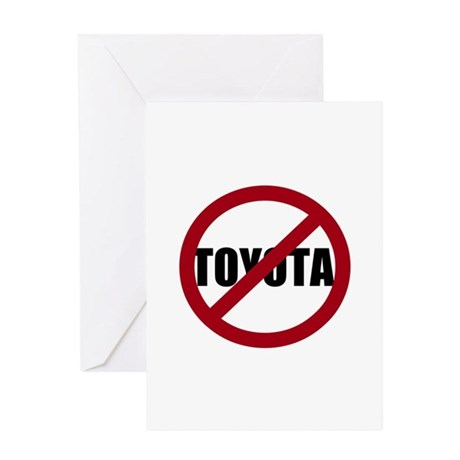 Anti-Toyota Greeting Card