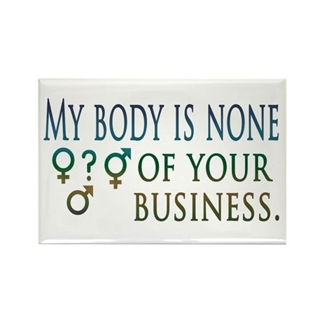 My Body is My Business Rectangle Magnet