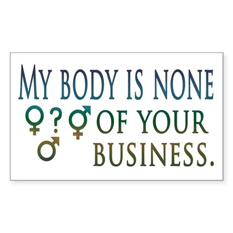 My Body is My Business Rectangle Sticker