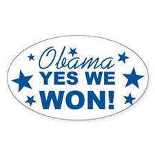 Obama Yes We Won Decal