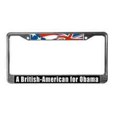 Cute American brit License Plate Frame