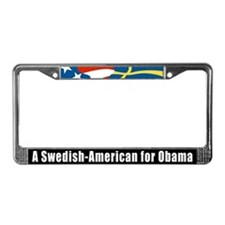 Cute Swedish american License Plate Frame