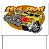 Hot Rod Yard Sign