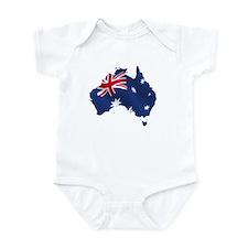 Australian Map Onesie