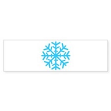 Blue Snowflake Bumper Sticker