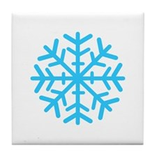 Blue Snowflake Tile Coaster