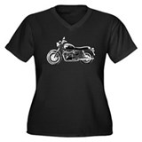Bonneville Women's Plus Size V-Neck Dark T-Shirt