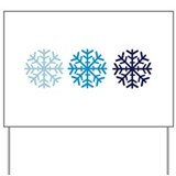 Snowflakes Yard Sign