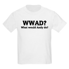 What would Andy do? Kids T-Shirt