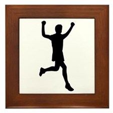 Runner running Framed Tile