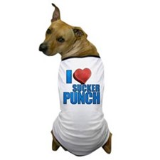 I Heart Sucker Punch Dog T-Shirt