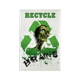 Recycle Brains Rectangle Magnet (10 pack)