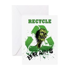 Recycle Brains Greeting Card