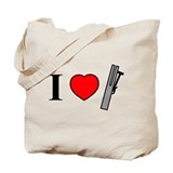 I Heart Chimes - Horizontal Tote Bag
