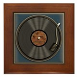 Karaoke King LP Record Framed Tile
