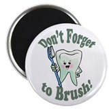 "Don't Forget To Brush 2.25"" Magnet (100 pack)"