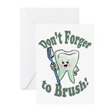 Don't Forget To Brush Greeting Cards (Pk of 10)
