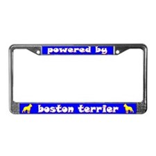 Powered by Boston Terrier License Plate Frame