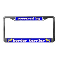 Powered by Border Terrier License Plate Frame