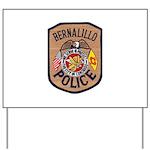 Bernalillo New Mexico Police Yard Sign