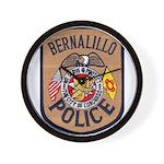 Bernalillo New Mexico Police Wall Clock